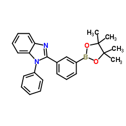 1-phenyl-2-[3-(4,4,5,5-tetramethyl-1,3,2-dioxaborolan-2-yl)phenyl]benzimidazole