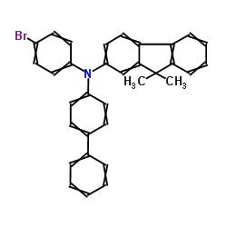 Suministro N - ([1,1'-bifenil] -4-il) -N- (4-bromofenil) -9,9-dimetil-9H-fluoren-2-amina CAS:1246562-40-2