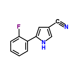 Suministro 5- (2-fluorofenil) -1H-pirrol-3-carbonitrilo CAS:1240948-77-9