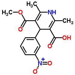Suministro Ácido 5- (metoxicarbonil) -2,6-dimetil-4- (3-nitrofenil) -1,4-dihidropiridin-3-carboxílico CAS:74936-72-4