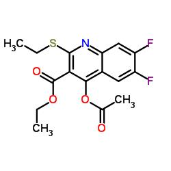 Ethyl 4-acetoxy-2-(ethylthio)-6,7-difluoroquinoline-3-carboxylate