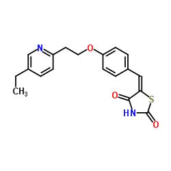 Suministro 5- (4- (2- (5-Etilpiridin-2-il) etoxi) bencilideno) tiazolidina-2,4-diona CAS:144809-28-9