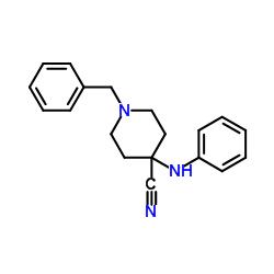 Suministro 1-bencil-4- (fenilamino) piperidina-4-carbonitrilo CAS:968-86-5