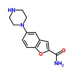 Suministro 5-piperazin-1-il-1-benzofuran-2-carboxamida CAS:183288-46-2