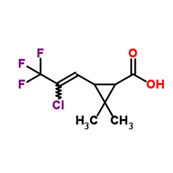 Suministro ácido cis-3- (2-cloro-3,3,3-trifluoroprop-1-en-1-il) -2,2-dimetilciclopropanocarboxílico CAS:72748-35-7